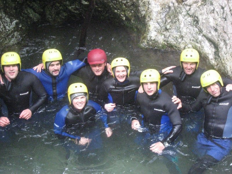 Canyoning in Susec - Slovenia