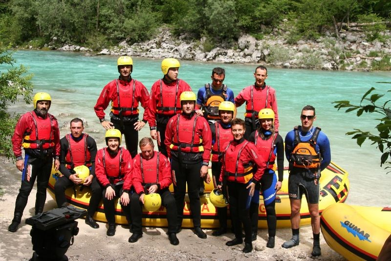Rafting on Soca - Slovenia